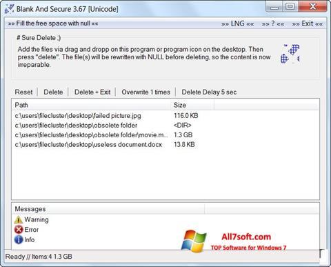 સ્ક્રીનશૉટ Blank And Secure Windows 7